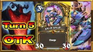 Hearthstone: Turn 5 OTK | This Combo Should Be BANNED! Rise of Shadows | Wild