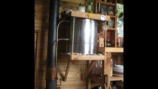Буржуйка бойлер для нагрева воды.