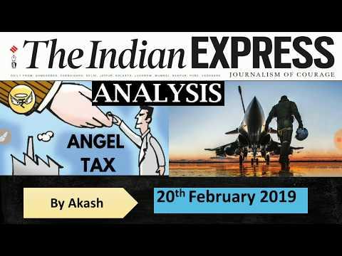 THE INDIAN EXPRESS ANALYSIS  20 February 2019|Aero India 2019, Pulwama, Triple Talaq, Angel Tax