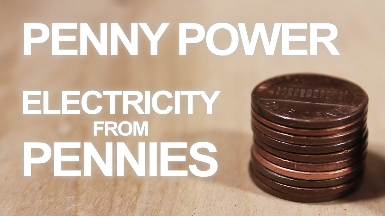 how to make a 3 penny battery [ 1280 x 720 Pixel ]