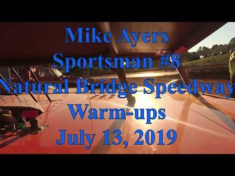Mike Ayers warming up at Natural Bridge Speedway - 7/13/19