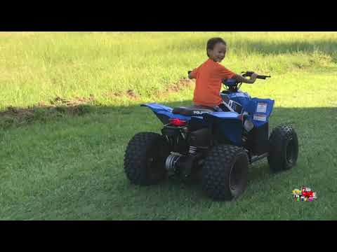 Playing Around With Polaris 110, Monster Truck and Kawasaki 110 Motorcycle