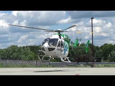 LifeFlight 5 with spare (N676LF) landing at Oblock Junior High School for an LZ Training Course