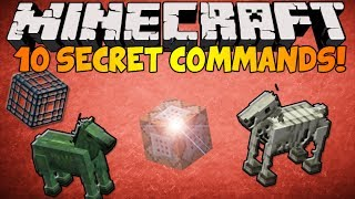 Minecraft - (1.8) 10 Secret Commands in ONE VIDEO!