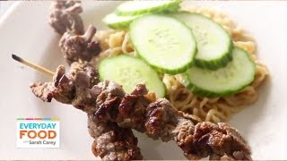 Beef Satay with Peanut-Ginger Ramen  Everyday Food with Sarah Carey