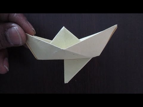 Paper Boat - How To Make A Very Simple Paper Boat With A Rudder - 5