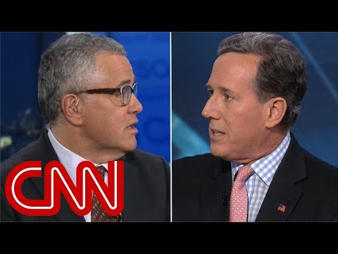 Rick Santorum\'s Trump defense stuns Jeffrey Toobin