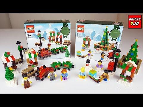 LEGO 40262 Weihnachtslandschaft + 40263 Weihnachsmarkt - Review Deutsch -