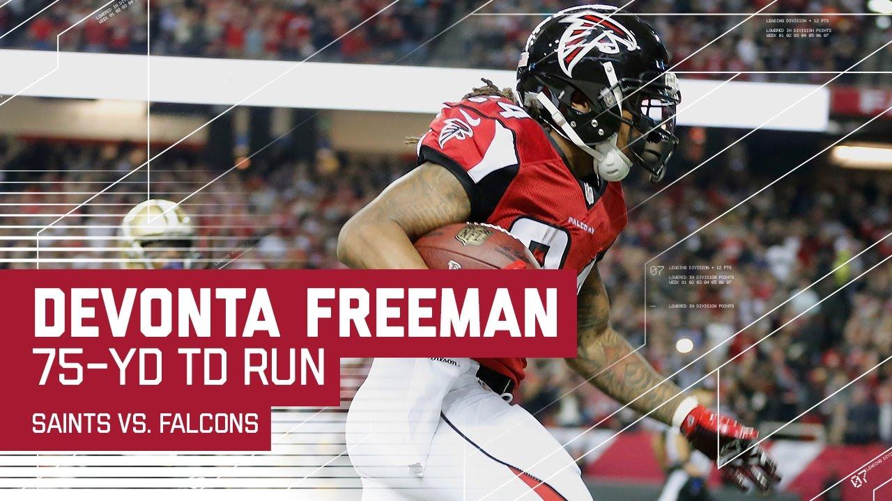 Devonta Freeman s Amazing 75 Yard TD Run