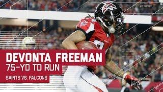 Devonta Freeman's Amazing 75-Yard TD Run! | NFL Week 17 Highlights