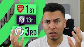 reacting to my 20172018 premier league predictions