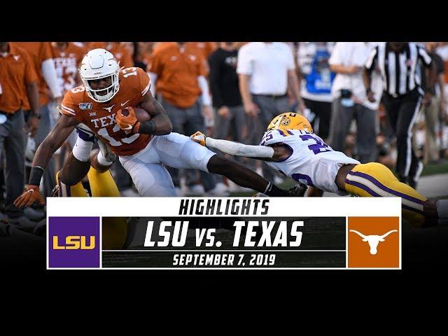 No. 6 LSU vs. No. 9 Texas Football Highlights (2019) | Stadium