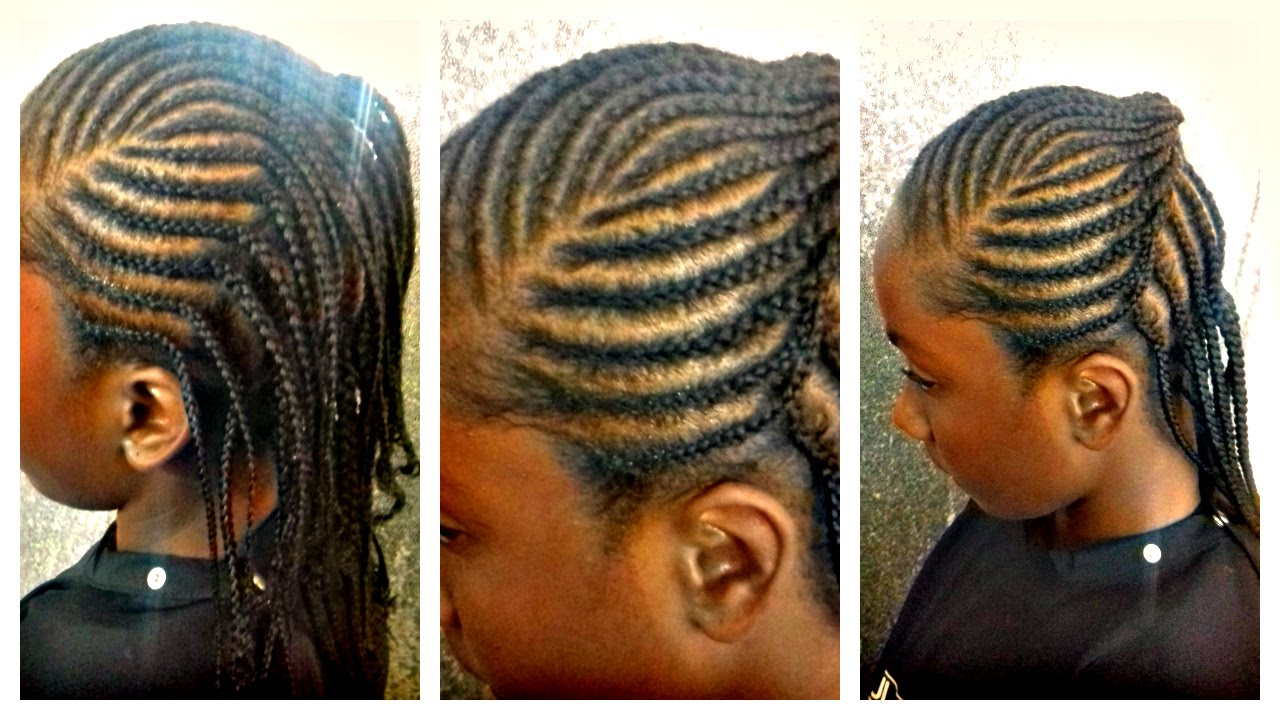 natural hair braids for kids: 3 row cornrows protective styling