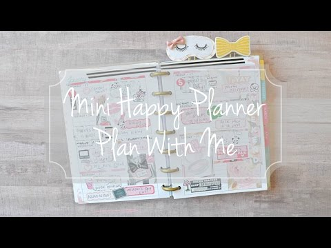 Mini Happy Planner Plan with Me / Horizontal Stickers