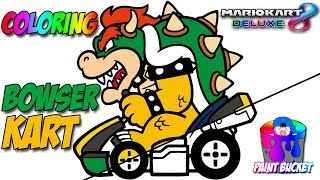 Mario Kart 8 Deluxe Bowser - Nintendo Switch Super Mario Coloring Games for Kids