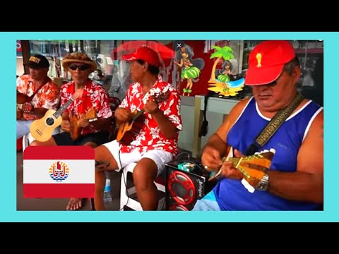 TAHITI, singing and playing the ukulele in the streets of Pape'ete (FRENCH POLYNESIA)