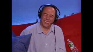 Gilbert Gottfried listens to prank calls made using his voice