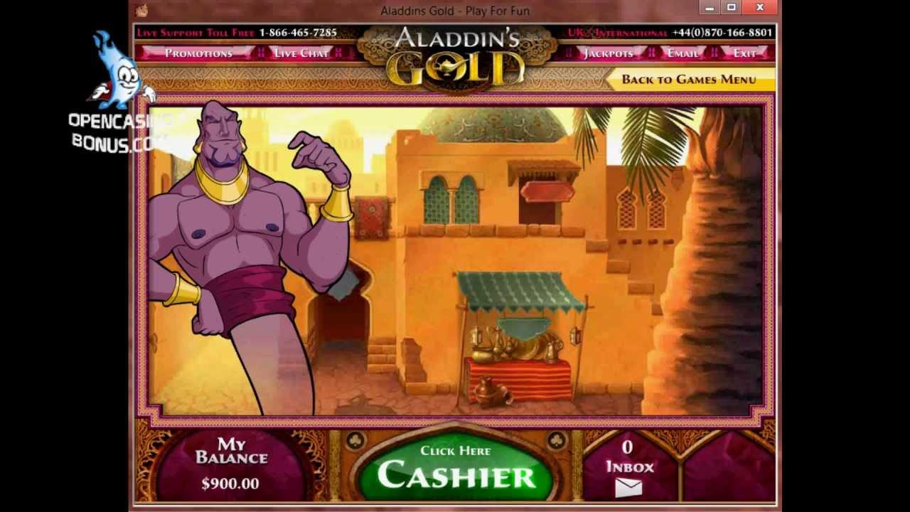 Aladdins Gold Casino 25 no deposit bonus