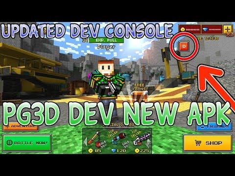pixel gun 3d developer menu apk