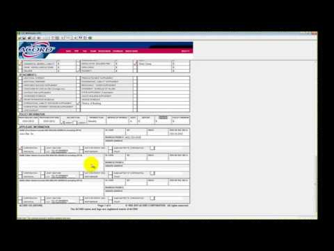 Acord 125 - How To Complete Insurance Agency Quoting Forms