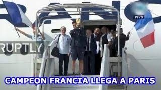La LLEGADA de la SELECCION DE FRANCIA a PARIS
