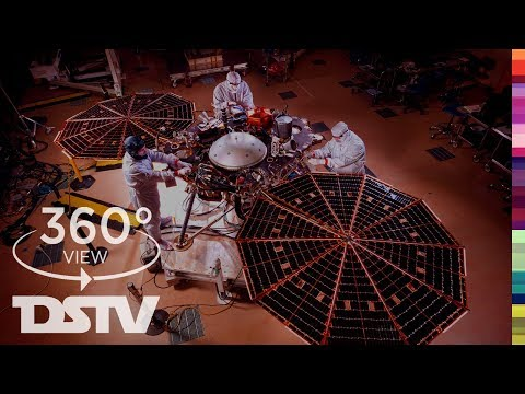 Visit Mars INSIGHT At The Robot Test Lab | 360° VR Space Video
