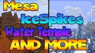 TU31 All Biome Seed :: Huge Ice Spikes, Mesa, Tiaga, Guardian Temple + MORE!!