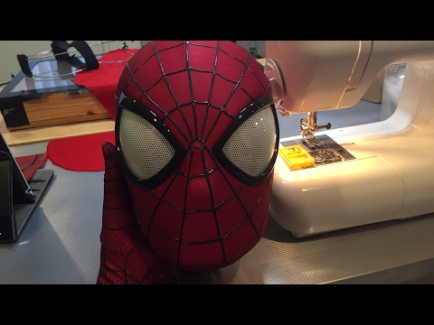 Made by McLean Live- MCU Spider-Man- Sewing the Test Mask- 04/08/2017