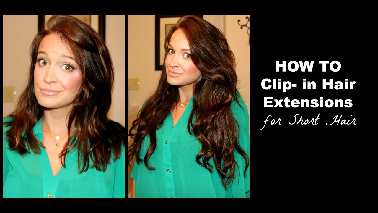 How To Clip In Hair Extensions Tutorial Youtube