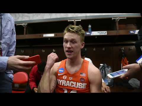 Syracuse's Braedon Bayer after the Orange win over Michigan State