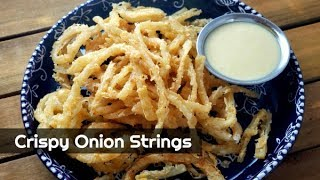 How to Make Crispy Onion Strings ~ Onion Straws ~ Thin Onion Rings ~ Amy Learns to Cook