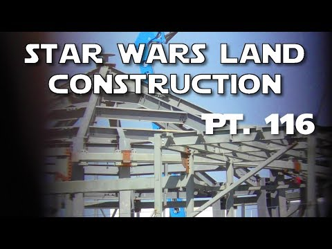 Buildings on the way!  - Star Wars Land Construction - Pt. 116 | 10-14-2017