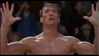 Frank Dux (Jean Claude Van Damme) getting blinded by Chong Li in 'Bloodsport.'