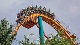 Riding Goliath Roller Coaster Multi Angle 4K POV Six Flags Over Georgia