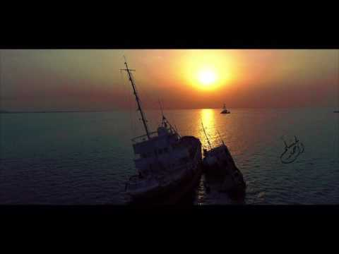 Wrecked Ship at Doha Port in Kuwait