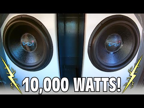 Download Youtube: 10,000 Watt BASS THERAPY w/ 2 18 inch Subwoofers Inside EXO's Little Blue Car Audio Build