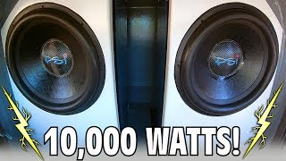 10,000 Watt BASS THERAPY w/ 2 18 inch Subwoofers Inside EXO's Little Blue Car Audio Build