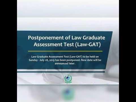 LAW GAT test postponed