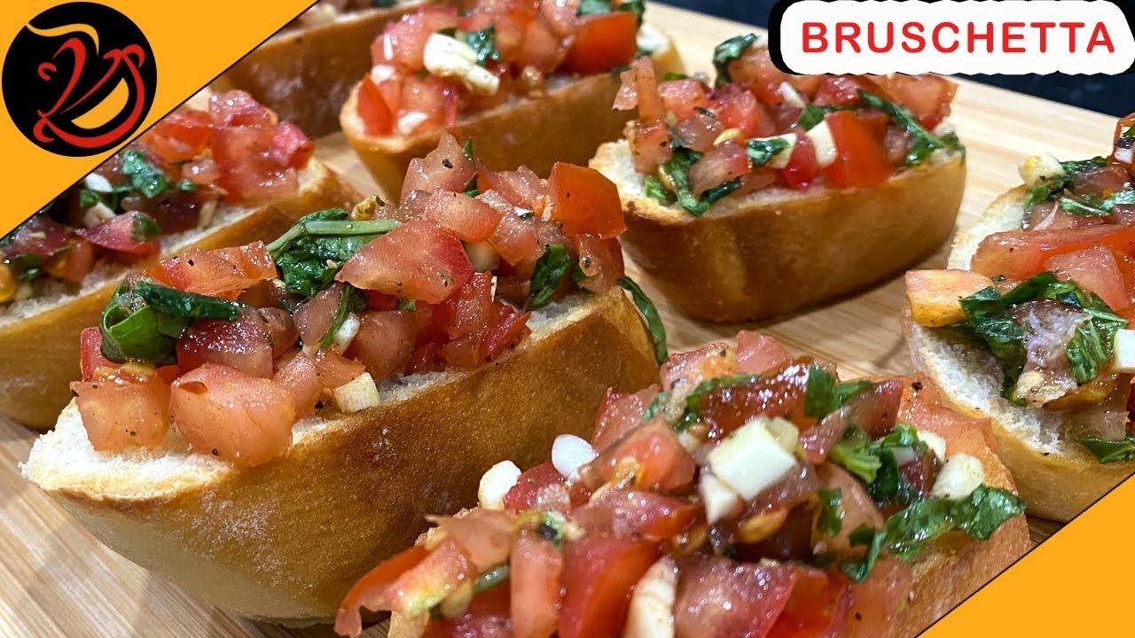 Download How to make Bruschetta recipe   Brushetta   Italian Bruschetta   Homemade Tasty bruschetta