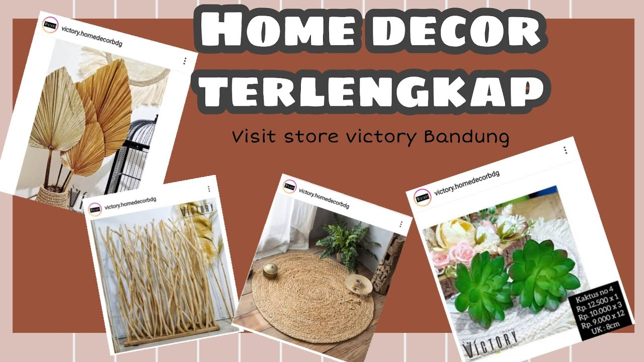 HOME DECOR AND DIY  Visit store victory bandung - YouTube