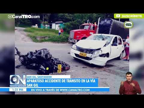 Aparatoso Accidente De Tránsito En La Vía San Gil