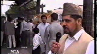 Flag Hoisting and Interviews at Jalsa Salana Germany 1998