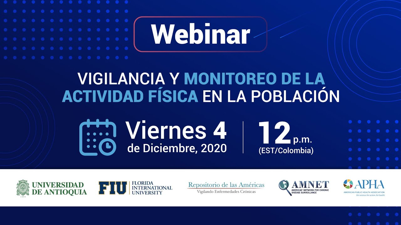 Webinar: Monitoring and surveillance of physical activity in the population