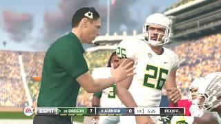 Oregon Ducks vs Auburn Tigers SEC NCAA Football 20 2019 2020 Season PS3