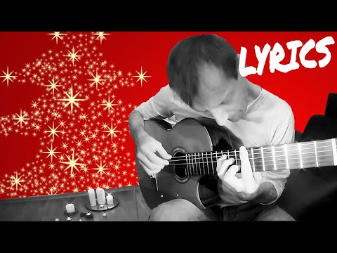 O Holy Night LYRICS (KARAOKE) Classical Fingerstyle Guitar Playback Christmas Song Charlie Kager