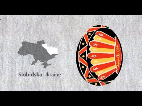 Traditional Ukrainian pysanka Easter eggs by region
