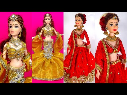 Artistic *INDIAN BRIDAL LEHENGA* Designs That You Should Try it For Your Dolls - Creative Doll Dress