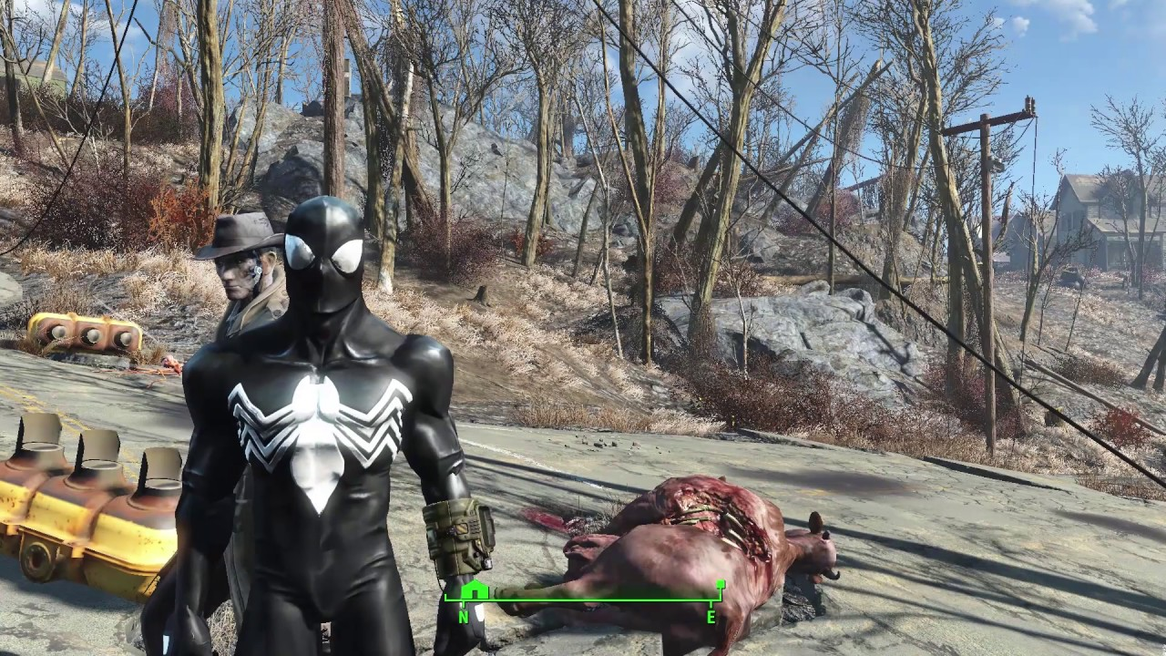 Venom and Carnage Crash 'Fallout 4'