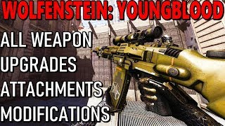 Wolfenstein YoungBlood - All Weapons, Attachments, Upgrades, Modifications