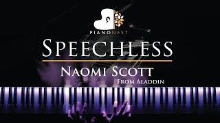 Naomi Scott - Speechless (Full) - From Aladdin - Piano Karaoke / Sing Along Cover with Lyrics